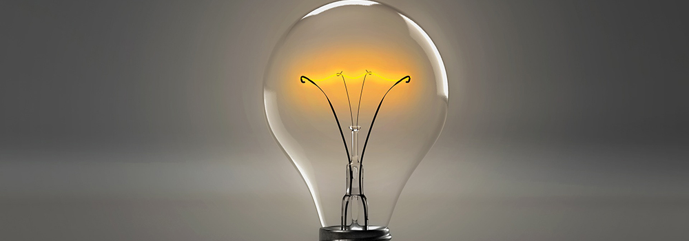 Photo of a light bulb