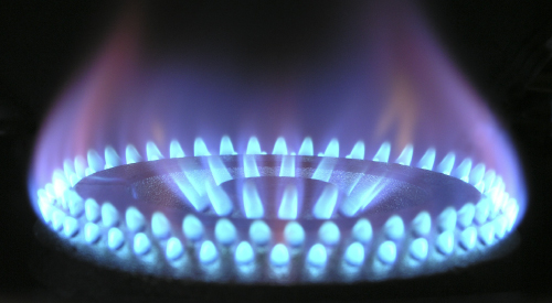 Photo of a gas flame