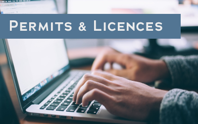 Permits and licences button